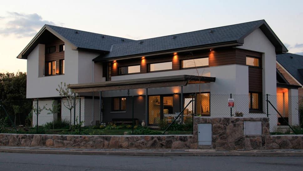 casa moderna noche