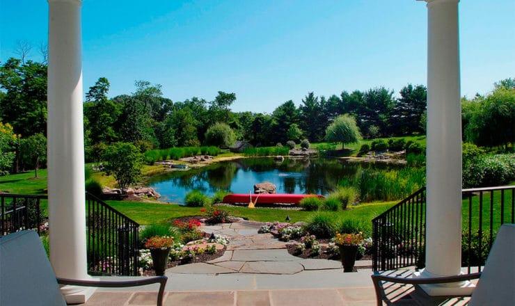jardín acuático de lujo