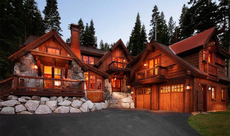 lodge cabana de madera