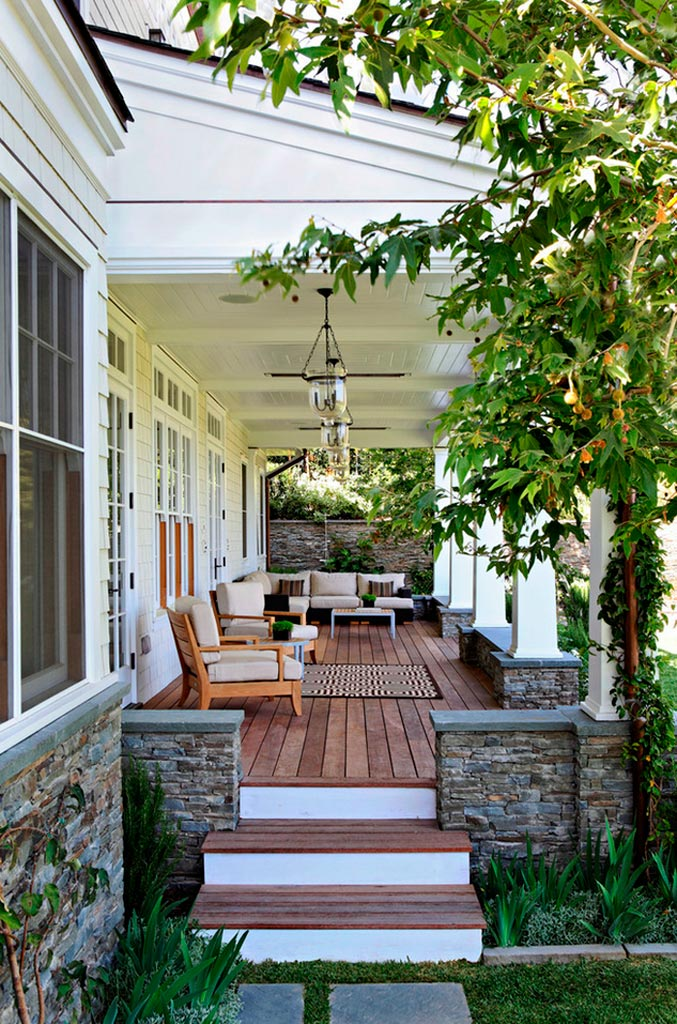 Porche deck o sunroom la transici n con el exterior for Porche americano