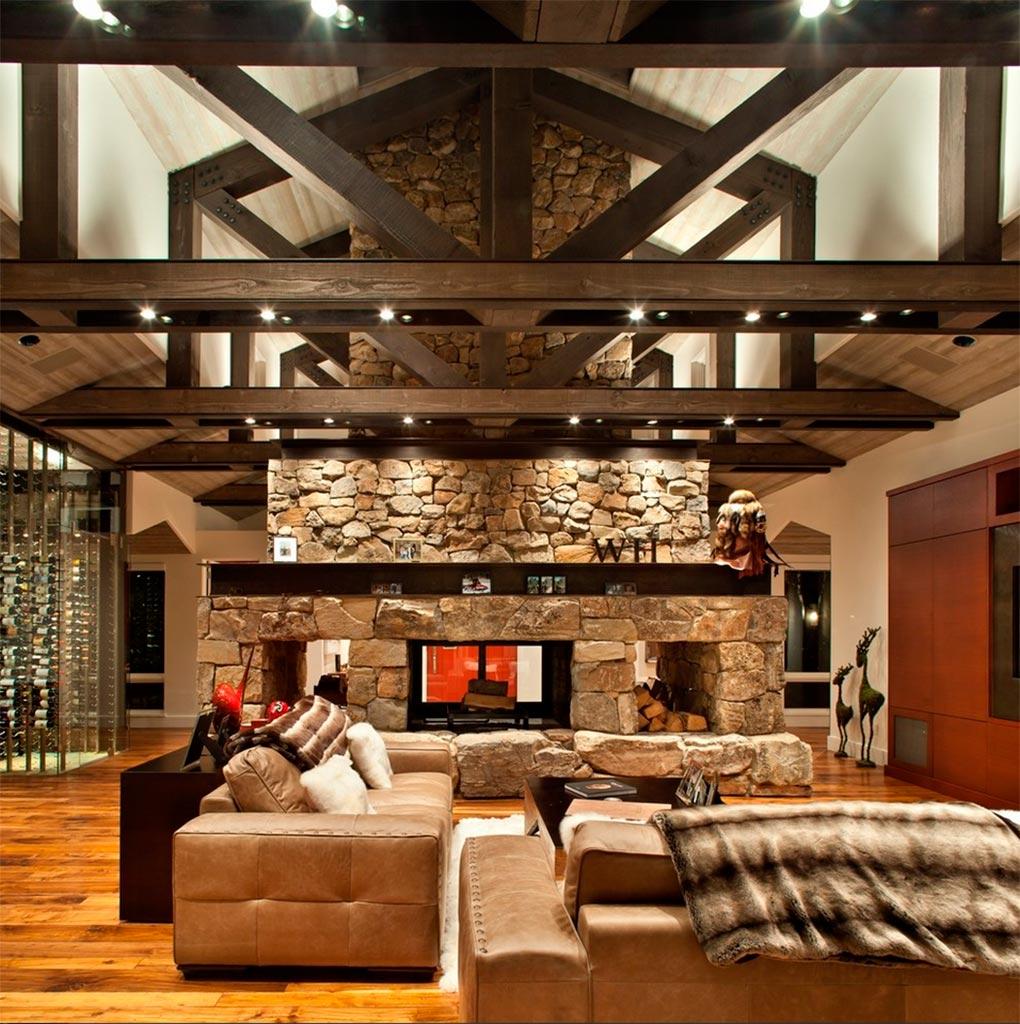 Lodge el estilo de las caba as de madera canexel - Salon doble altura ...