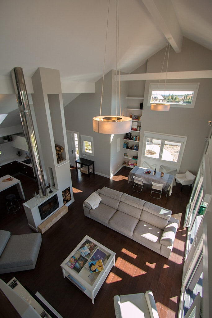 salon doble altura casa valdemorillo