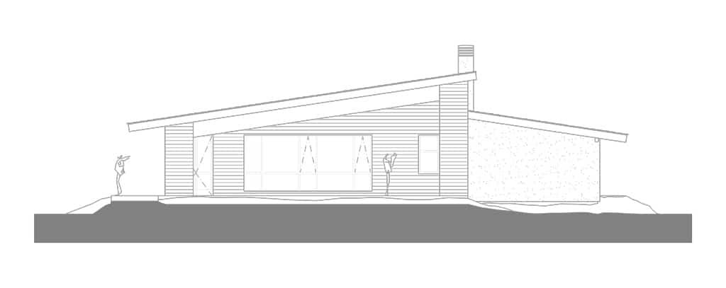 Un restaurante con estructura de madera canexel for Planos de restaurantes modernos