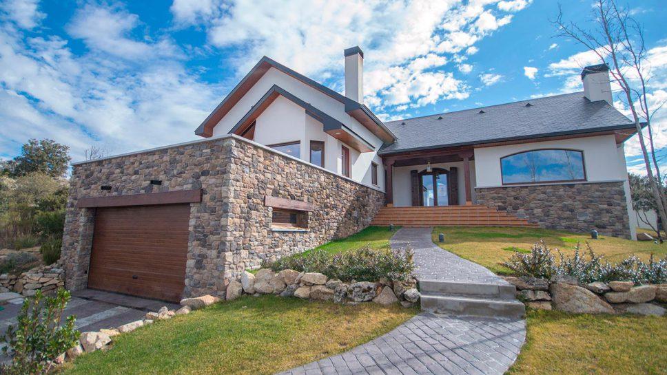 casa de madera estilo rústico