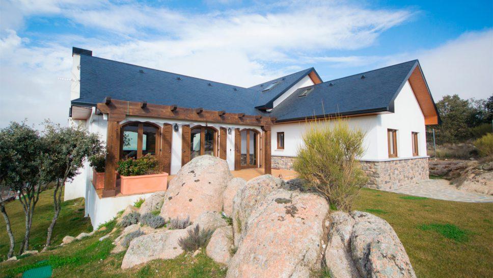casa de madera rústica