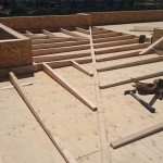 cubierta plana de madera