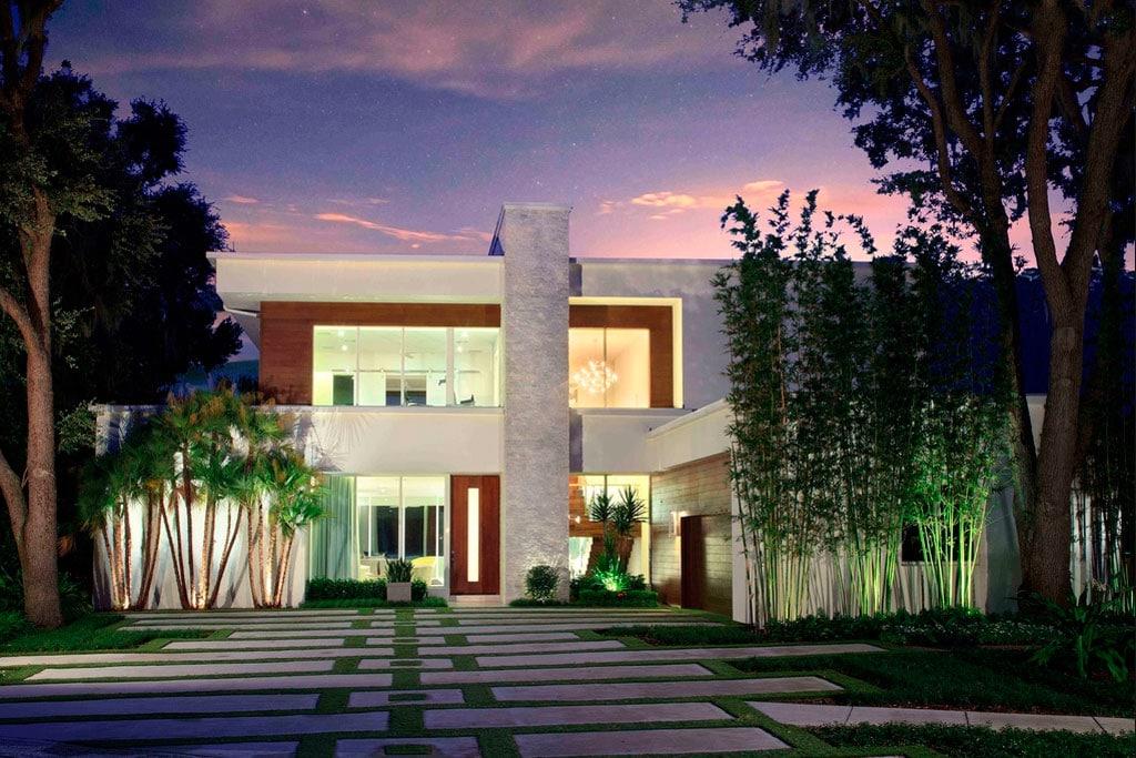 Casa moderna de lujo en orlando canexel for Casa moderna fachada