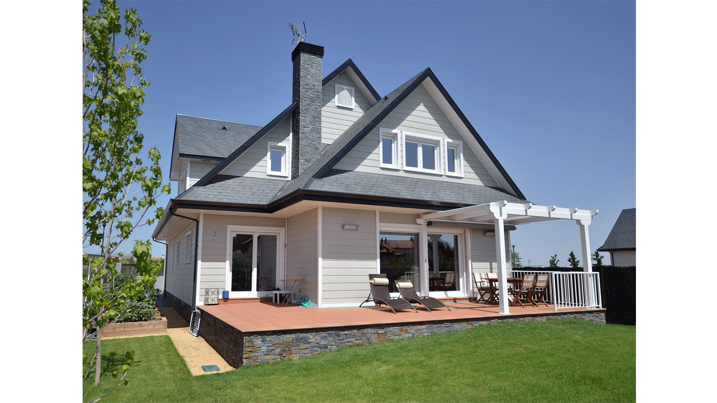 Casa de madera wembley canexel - Casaa de madera ...