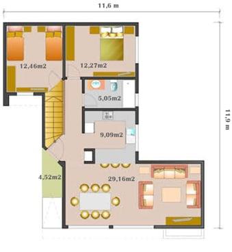 plata baja casa prefabricada habitat