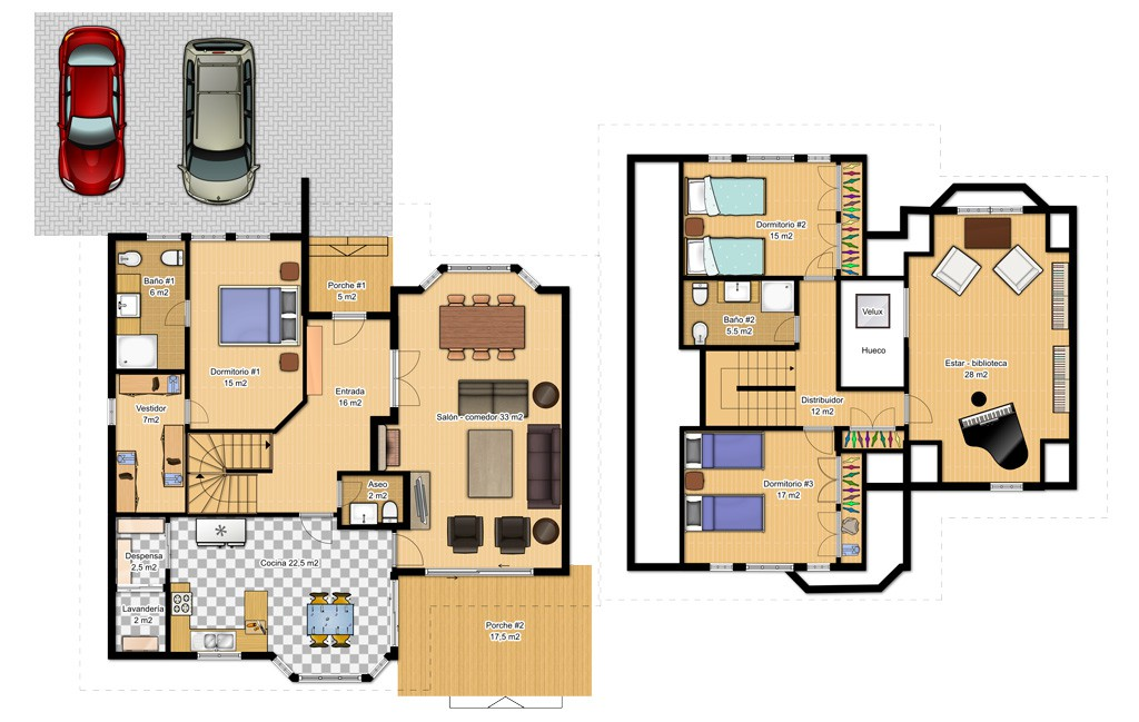 Casas de dos pisos canexel - Plantas para dormitorio ...