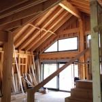 estructura de casa de madera
