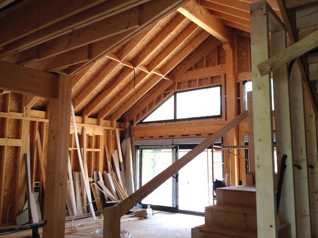 Construcci n de casa en valldoreix sant cugat canexel - Estructura casa de madera ...