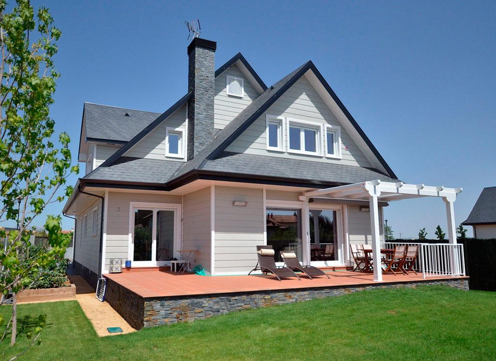 Revestimiento exterior canexel for Fachadas casas dos plantas
