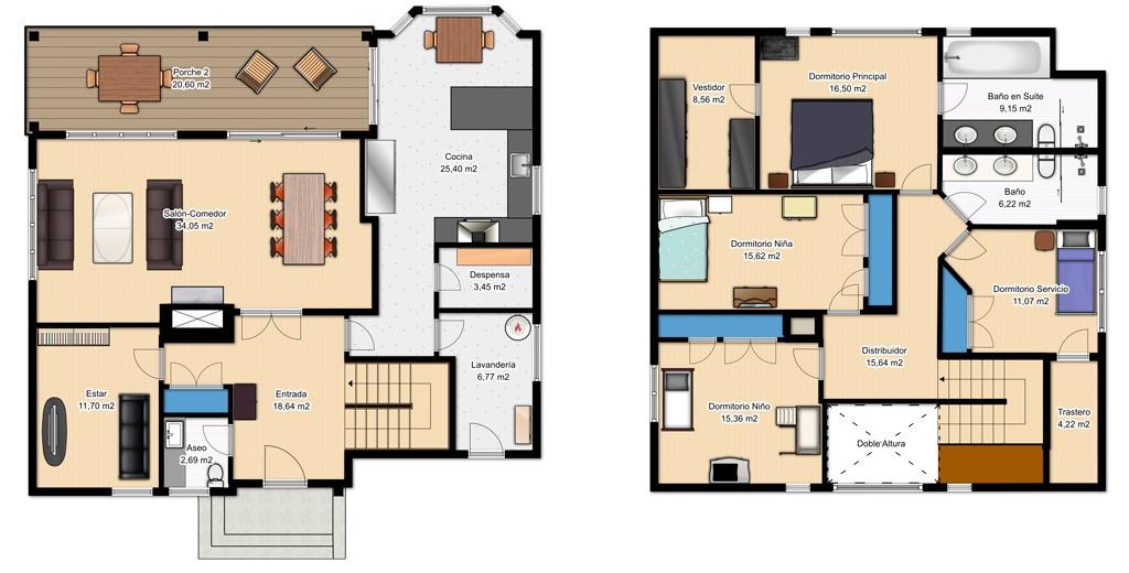 planos de casas de dos pisos para descargar