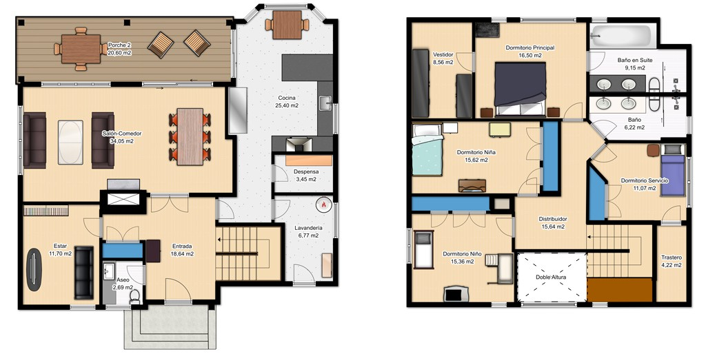 planos de casas de dos pisos en pdf