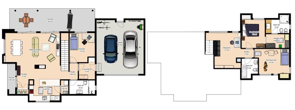 Casas de dos pisos canexel for Casas con planos y fotos