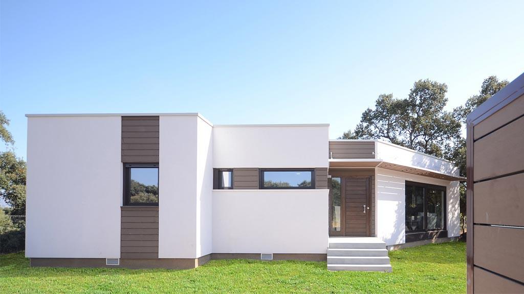 casa moderna mortero madera