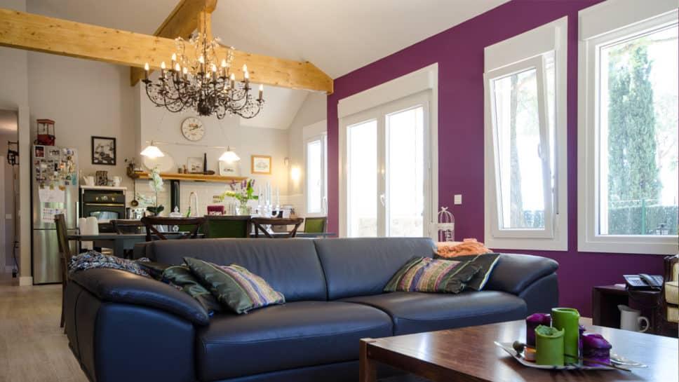 sofa hogar una planta