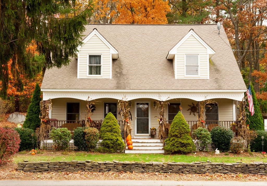 decoración de casa en halloween
