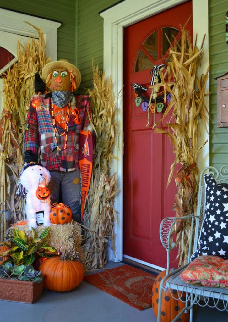 decoración de halloween entrada
