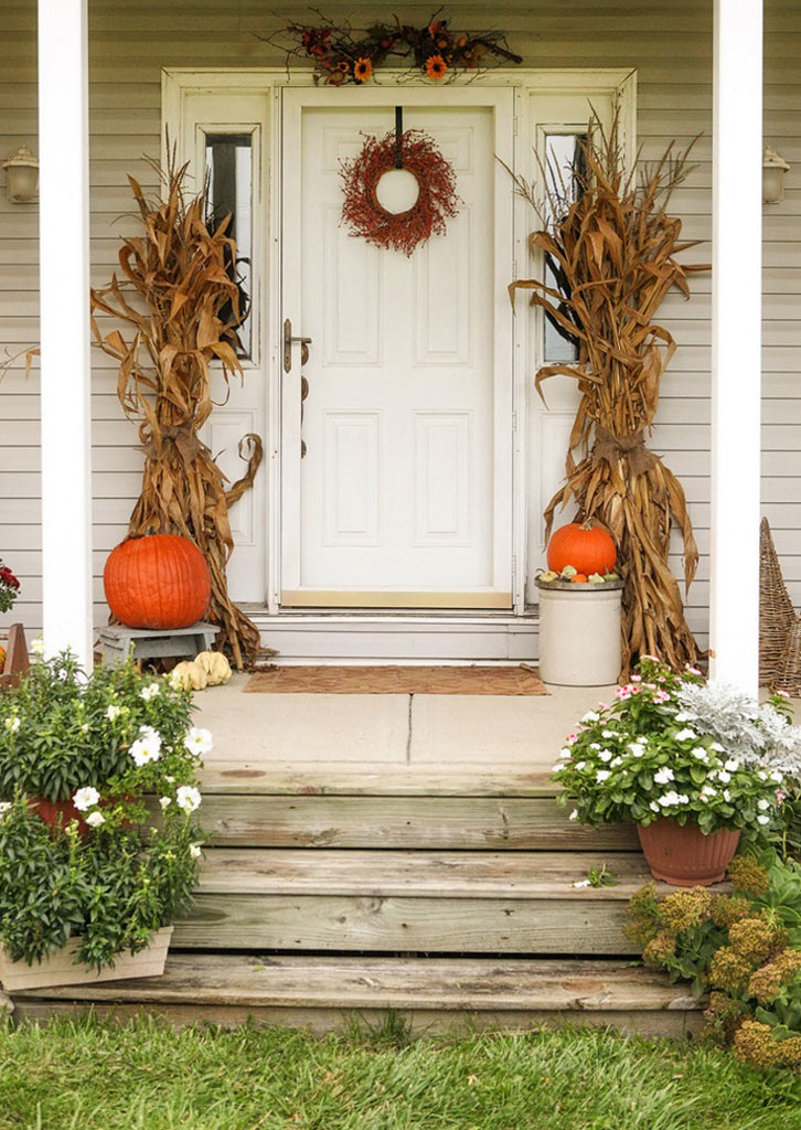 decoración halloween entrada y porche