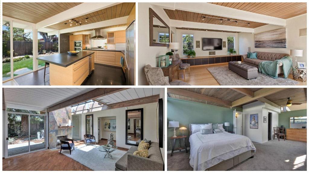 Casas modernas y luminosas el estilo eichler canexel - Casas estructura de madera ...