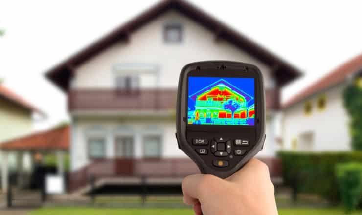 Test termográfico blower door