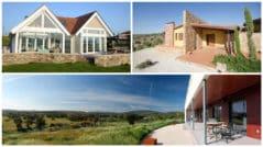 Casas de una planta, fachadas y planos