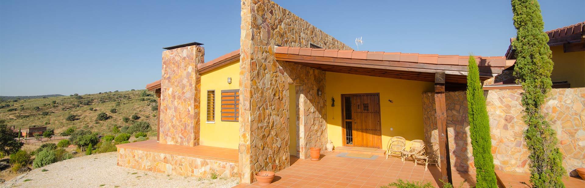 casa prefabricada piedra y mortero