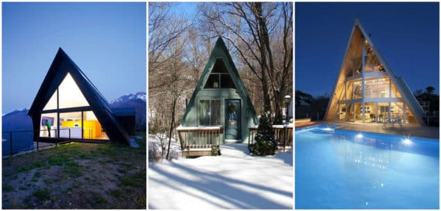 Casas de estilo A-Frame