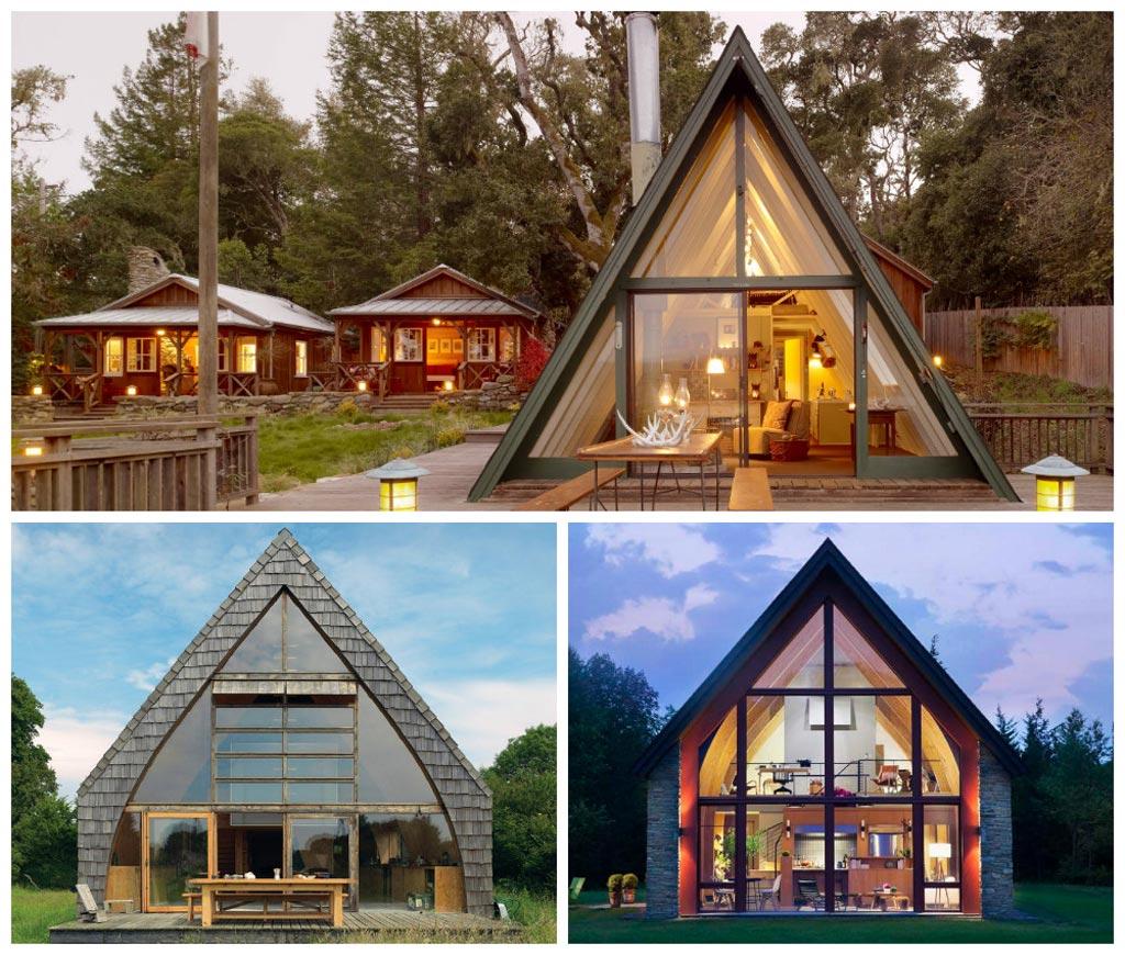 casas modernas con cubierta inclinada
