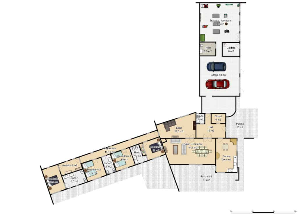 Plano planta baja casa albuquerque