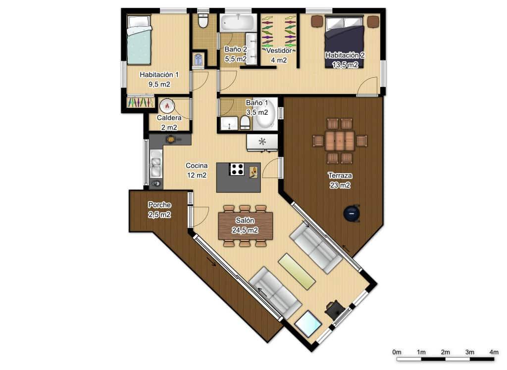 Casa accueil m casa moderna 91 m2 for Construcciones de casas modernas