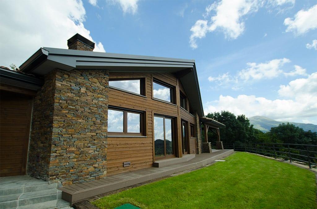 Casas de piedra y madera canexel Casas de piedra modernas