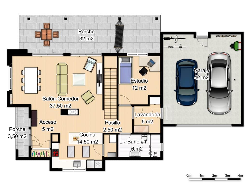 Casa marsella port canexel - Planos de casas de planta baja ...