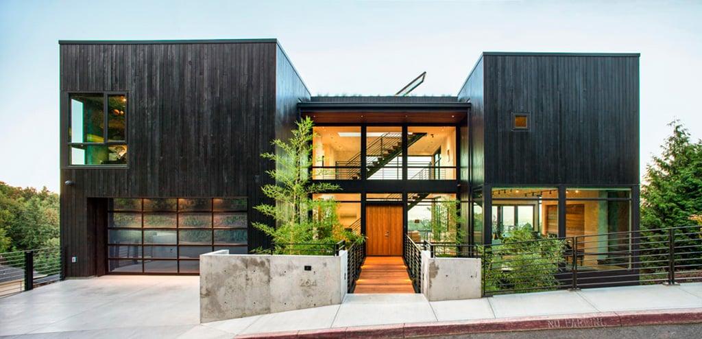 casa de lujo de madera nega