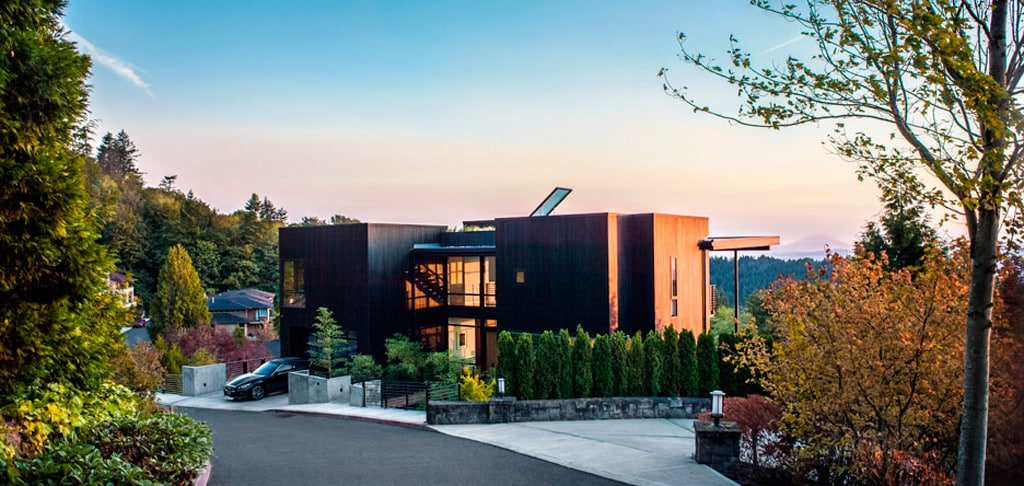 casa de madera de estilo moderno