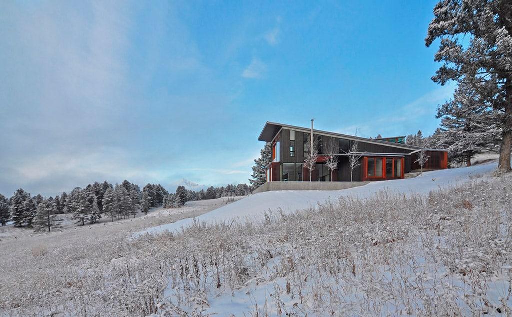casa de madera de montaña