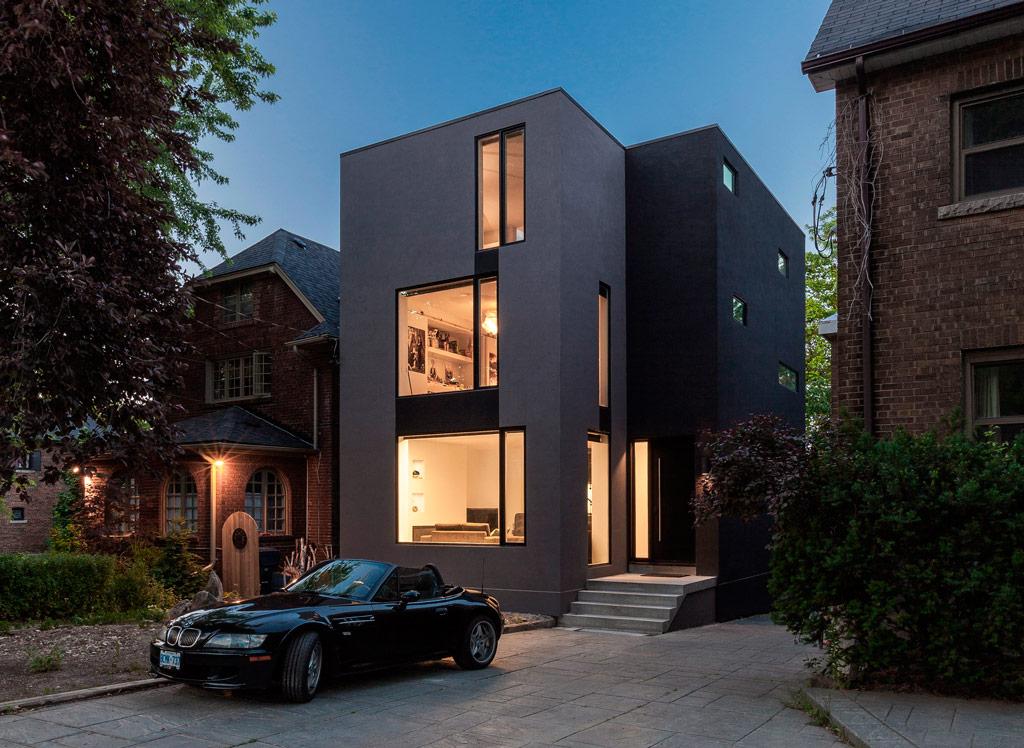 casa moderna negra
