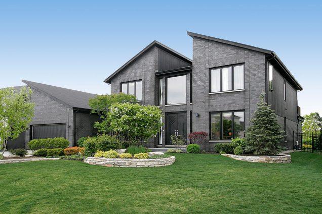 casas de color negro