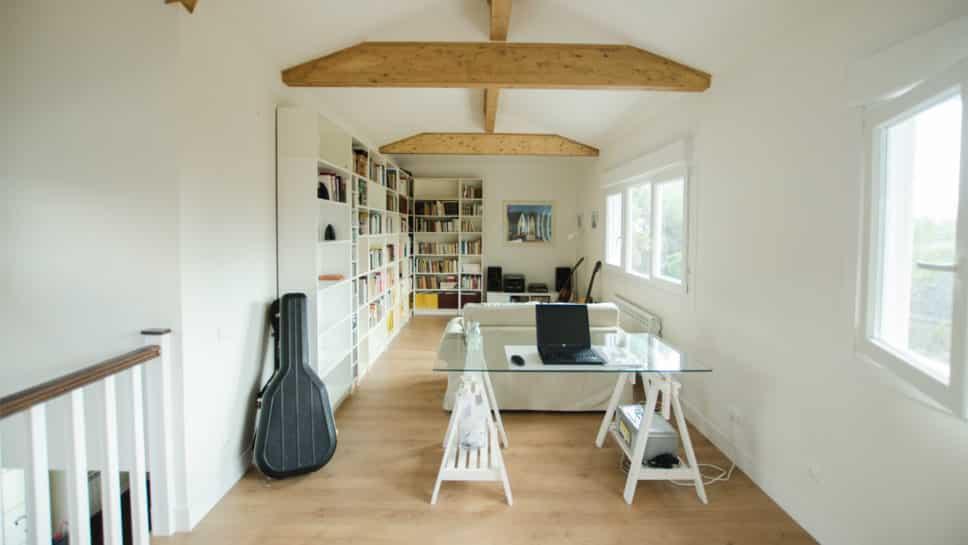 buhardilla casa de madera