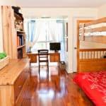 dormitorio madera escritorio