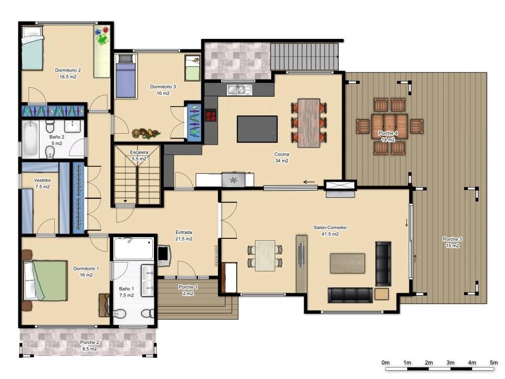 plano de la planta baja de la casa southport