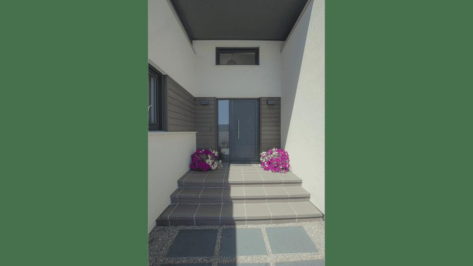 acceso casa moderna