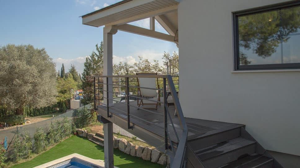 porche terraza con vistas