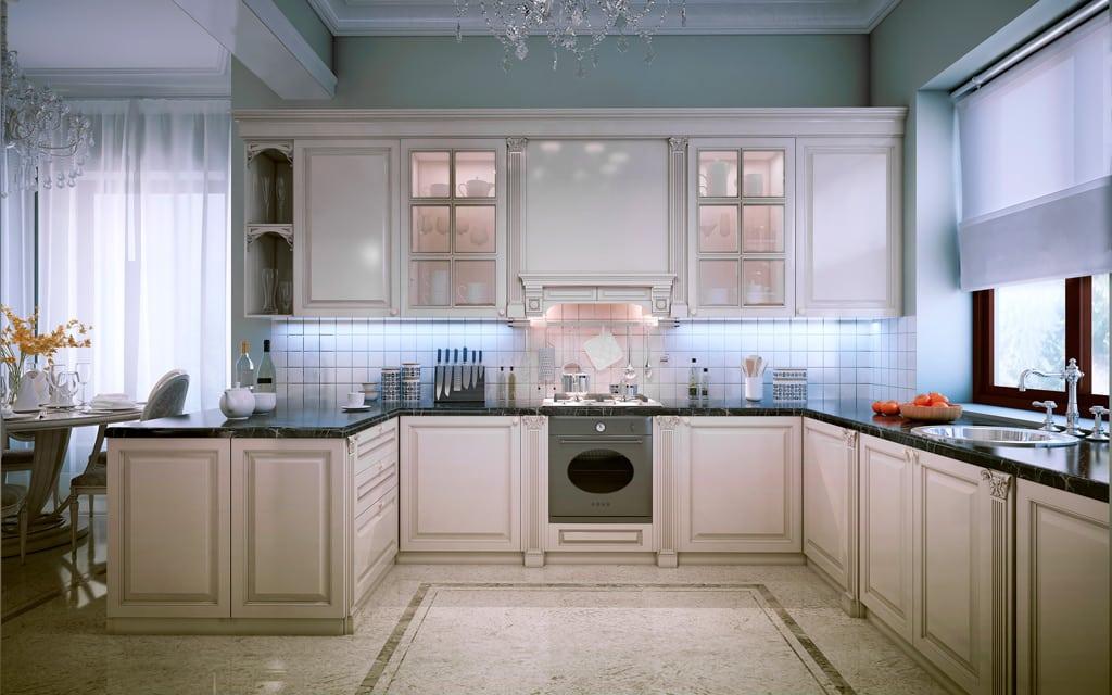 cocina rústica de lujo