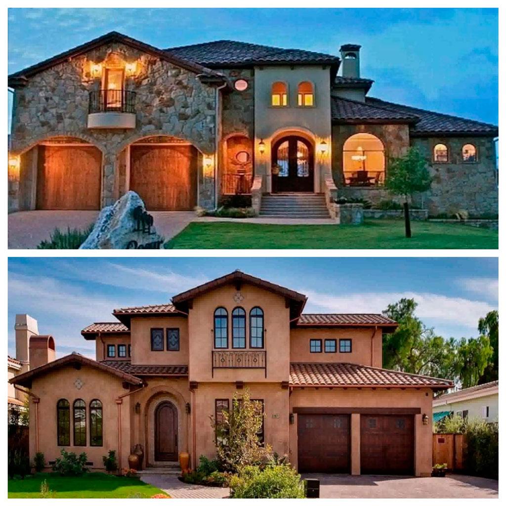 casas americanas de estilo toscano
