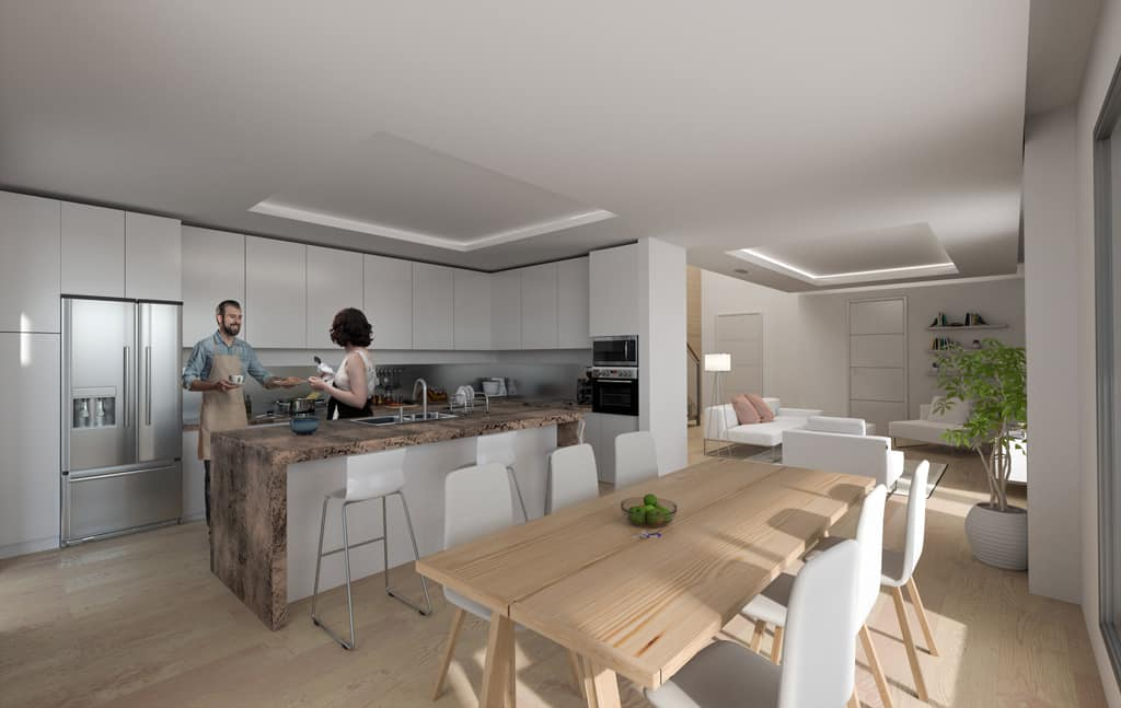 cocina open concept