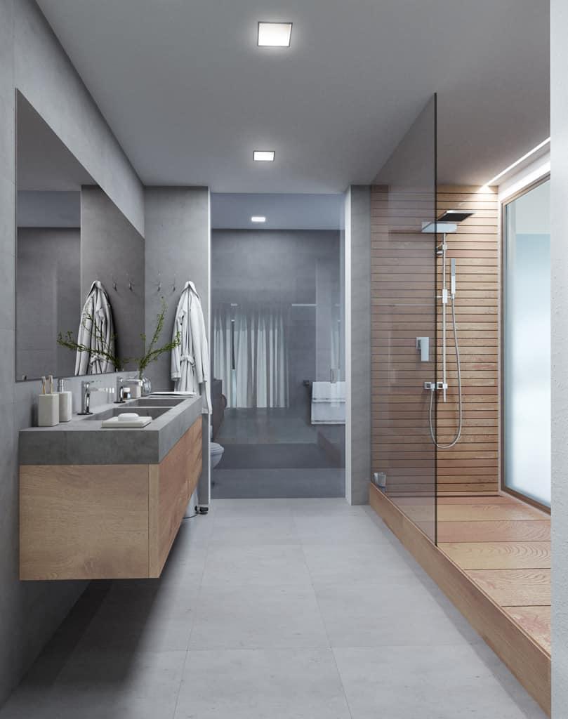 cuarto de baño de lujo